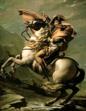Napoleon na Przełęczy św. Bernarda