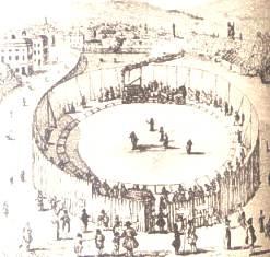 Kolejka parowa Trevithicka w Londynie w 1808  roku