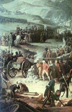Armia francuska przekracza Alpy