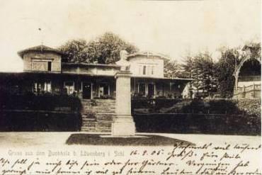 Pomnik Blüchera, który stanął w 1841 r. w Lwówku Śląskim (Löwenberg)