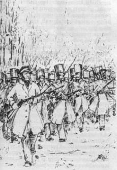 Chłopicki prowadzi do boju grenadierów