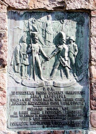 Tablica wykonana odlana w firmie braci Łopieńskich
