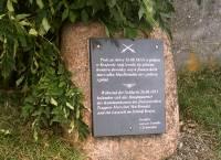 Kamień pamiątkowy w Krajowie ufundowany przez rodzinę von Schweinitz