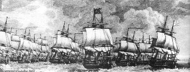 Ugrupowanie floty angielskiej pod Trafalgarem