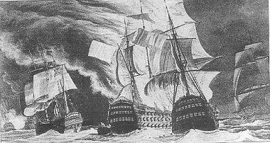 Potyczka angielsko-francuska na Morzu Śródziemnym  (prawdopodobnie w 1803 r.)